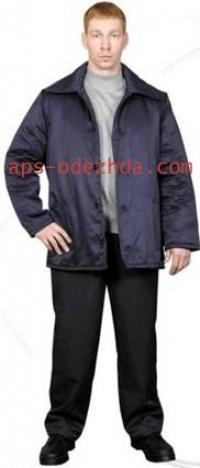 Куртка Ватная 3 слоя черная (кур 105)