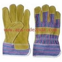 Перчатки спилковые, комбинированные