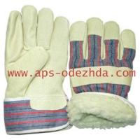 Перчатки утепленные спилковые комбинированные