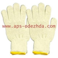 Перчатки трикотажные ХБ 5-нитка 7,5-8 класс вязки