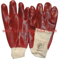 Перчатки ПВХ на х/б основе облитые частичино