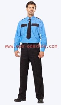 Рубашка охранника с д/рукавом