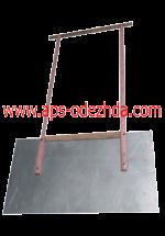 Движок (лопата) снегоуборочный двуручный алюминиевый с деревянными ручками. 2 мм