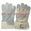 Перчатки спилковые комбинированные жесткий манжет