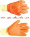 Перчатки Аляска-40 2-й ПВХ утепленные, манжет резинка