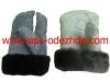 Рукавицы утепленные с меховой вставкой из натурального меха, трехпалые